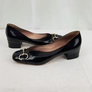 Gucci Black Horsebit Low Heels Pumps size 7.5 B